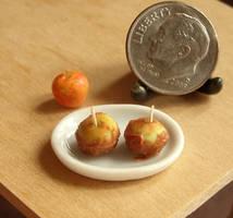 Dollhouse Miniature Caramel Apples by fairchildart