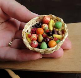 Little Big Fruit Basket by fairchildart