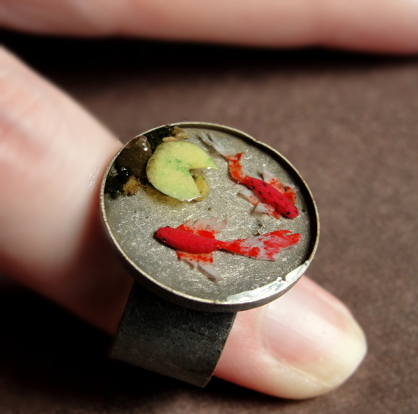 Koi pond ring by fairchildart on deviantart for Si fish and more