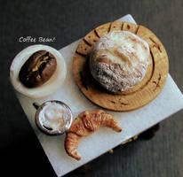 Tiny Coffee and Carbs by fairchildart