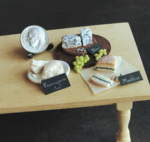 1:12 Scale Cheese Display