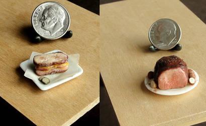 1:12 Scale Roast Beef Sandwich