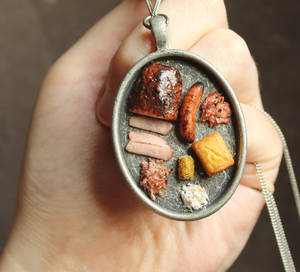 BBQ Platter Necklace