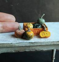 Fingertip Pumpkins by fairchildart