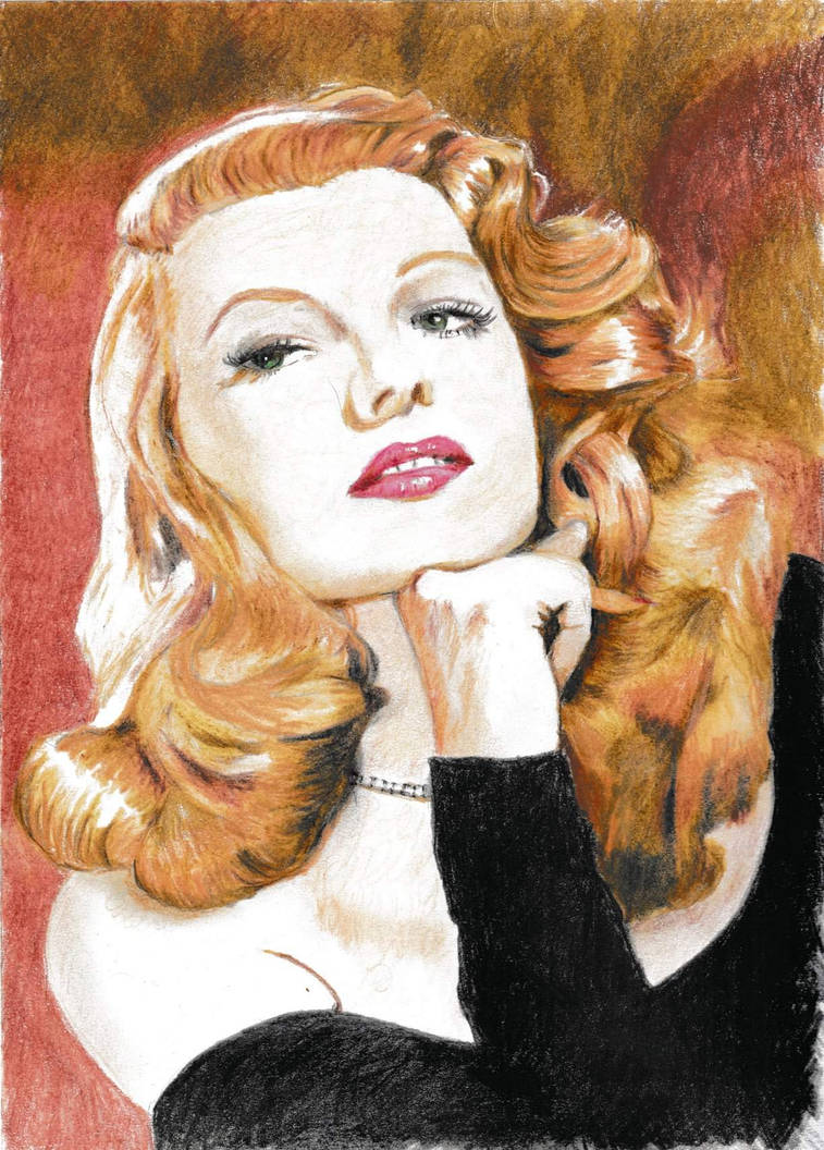 Rita Hayworth by bawdrysinger