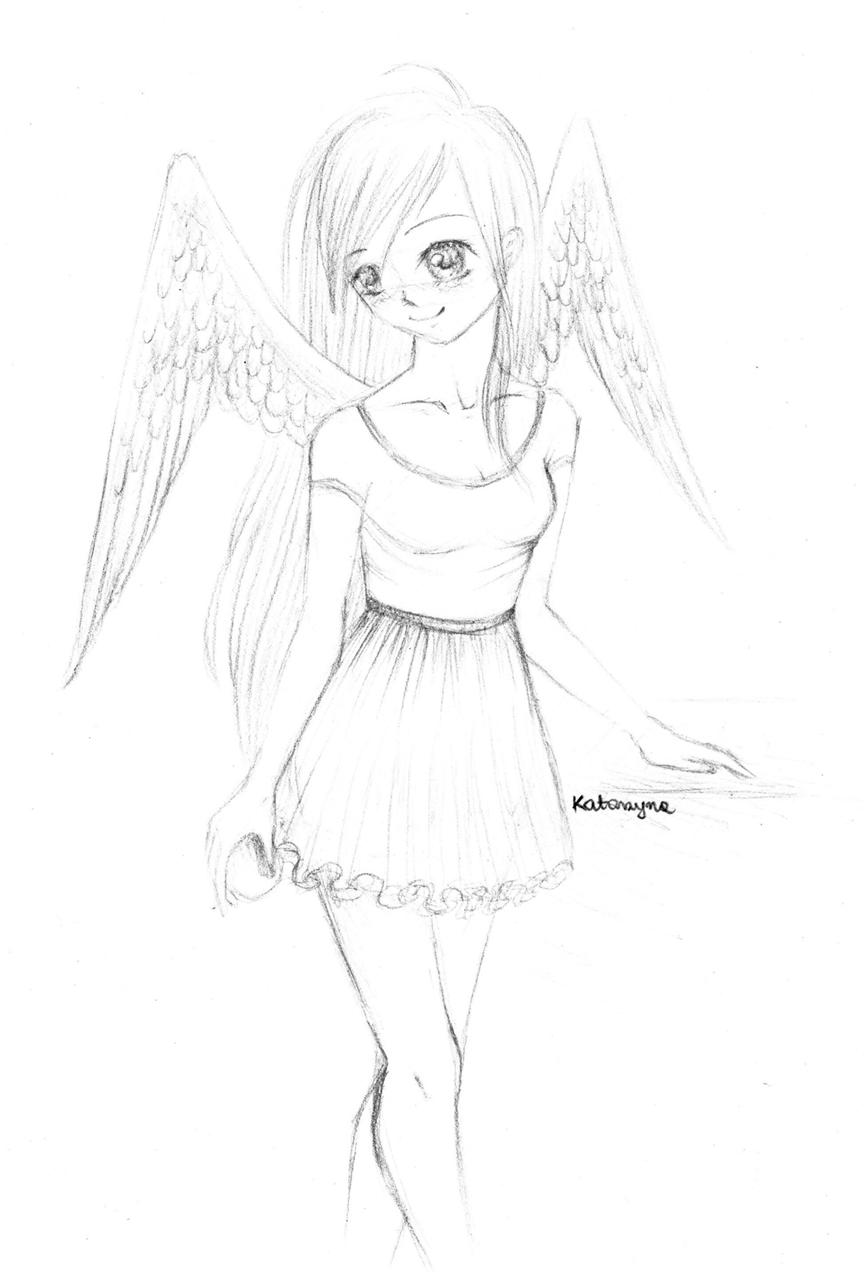 Szkolny aniolek by Kazuren