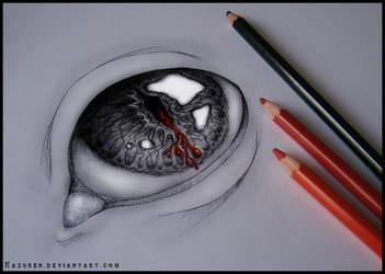 Bleeding pupil by Kazuren