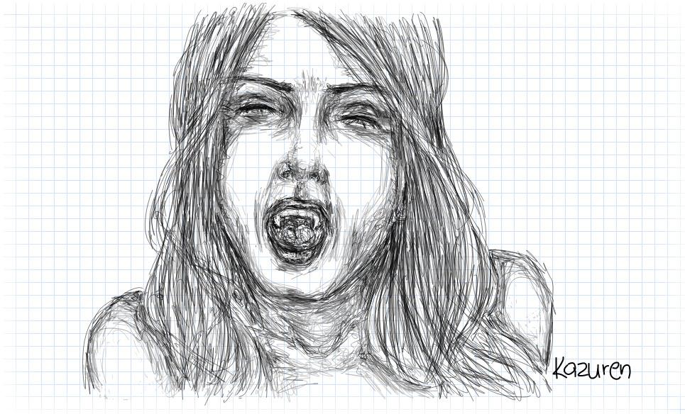 Vampire sketch by Kazuren