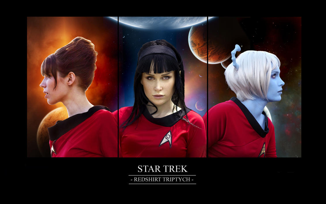 star_trek___redshirt_triptych_by_chonastock star trek redshirt triptych by chirinstock on deviantart