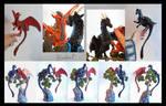 Commission Dragon pair