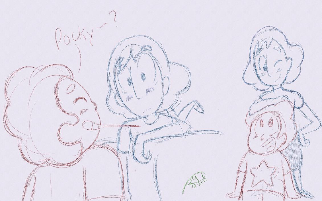 Connverse Pocky? (Also Couple of Random Doodles) by Perlen297