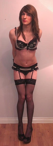Boudoir Belle and Garter Belt Crossdressing