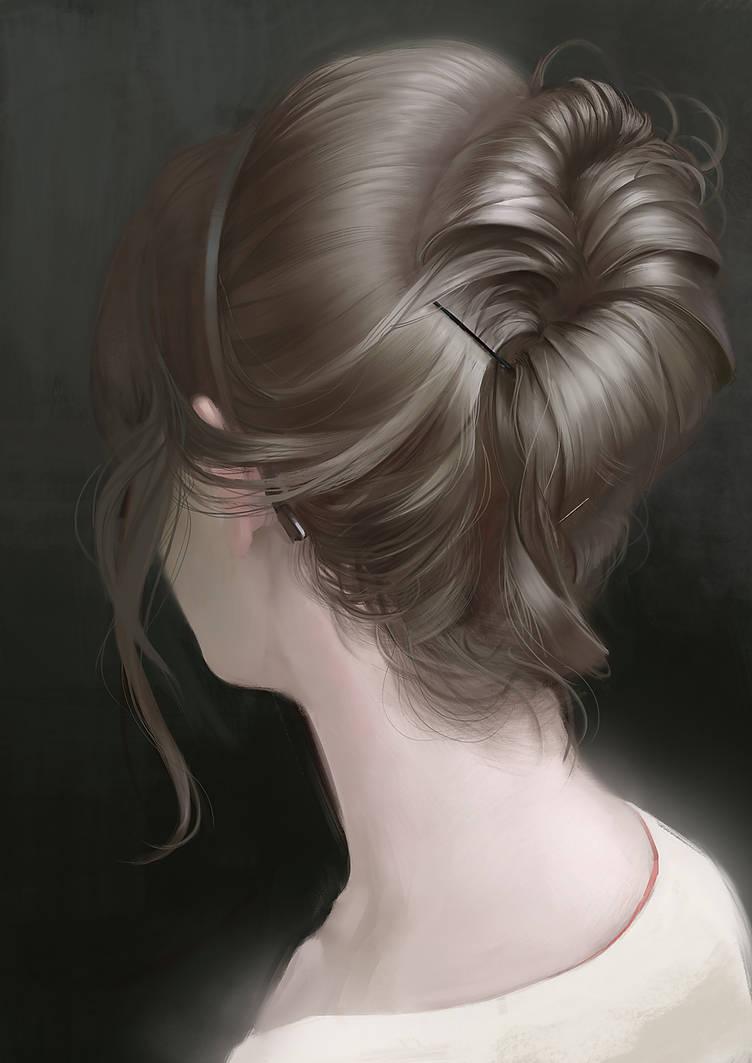 girl painting by Grobelski