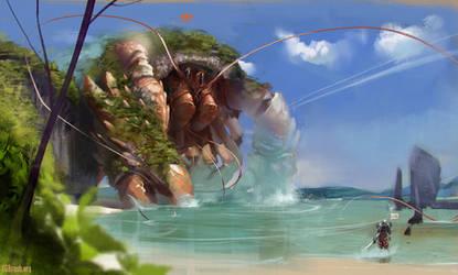Speedpainting 5 - Guild wars 2 fanart by Grobelski