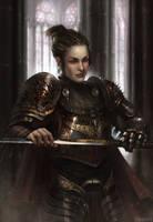 Spiky knightess by Grobelski