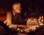 Study by candlelight
