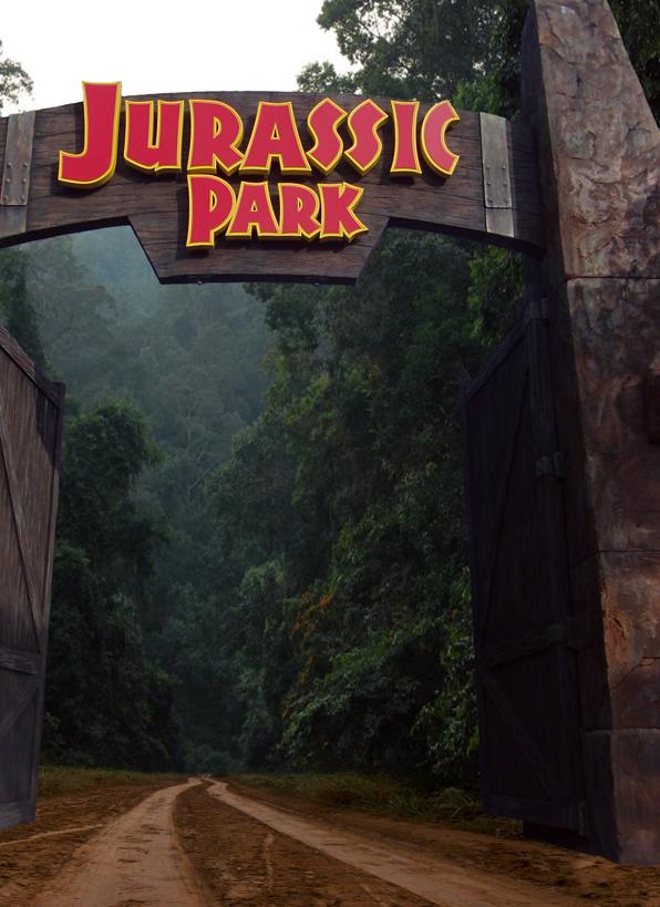 Jurassic Park Gates Cake