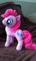 Yarn Hair Pinkie Plush by sockfuzzy