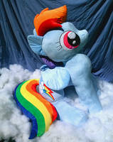 FOR SALE - Lifesize Rainbow Dash (Over 4 ft Tall!)