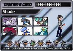 Shade's Trainer card by StrifeTheDark152