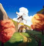 Valley of the Windmill by RuefulRaptor