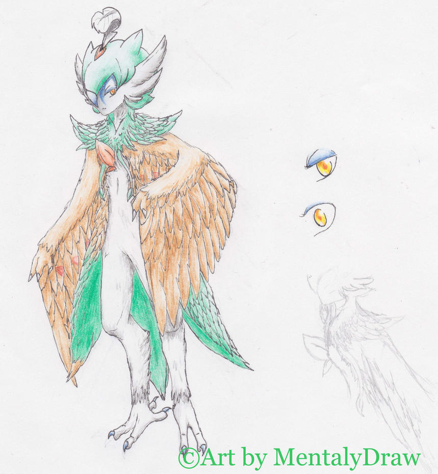 [Old Drawing] Maxine l'Hybride - PKU by MentalyDraw
