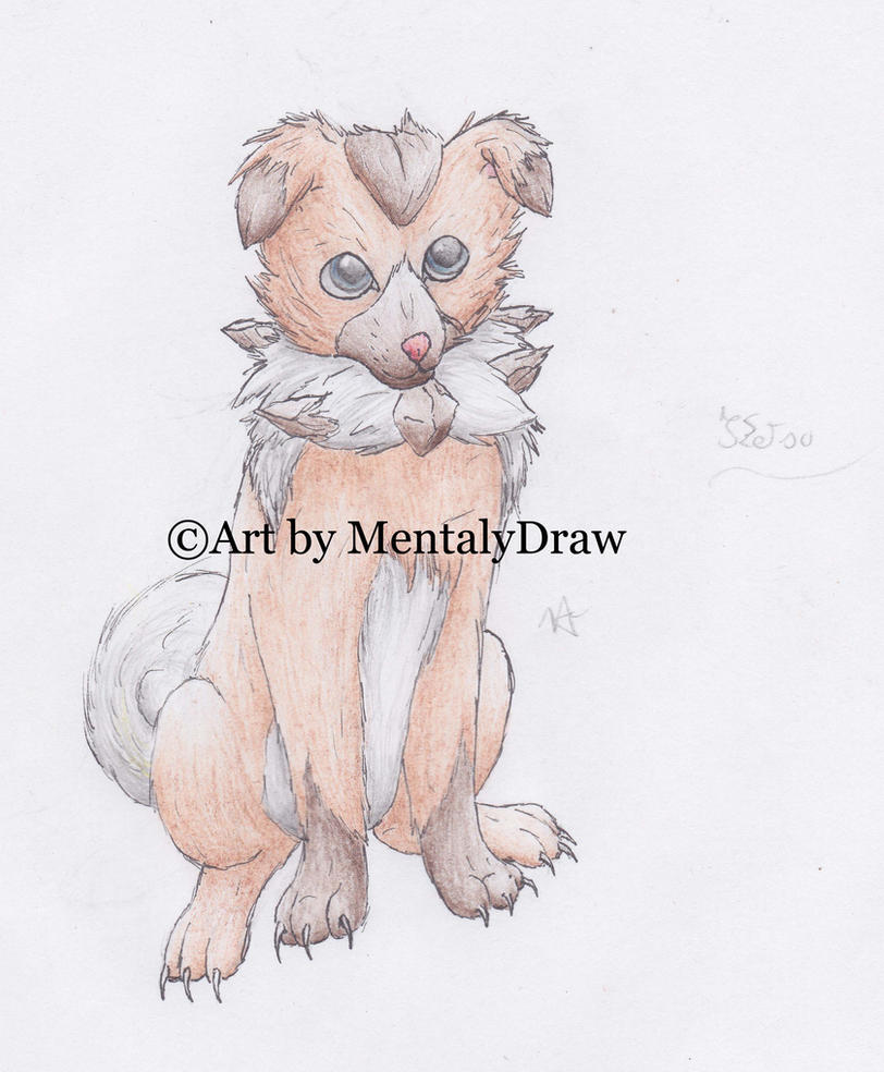 [Old Drawing] Ketsu the Rockruff by MentalyDraw