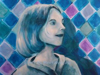 My Blue Selfportrait by MentalyDraw