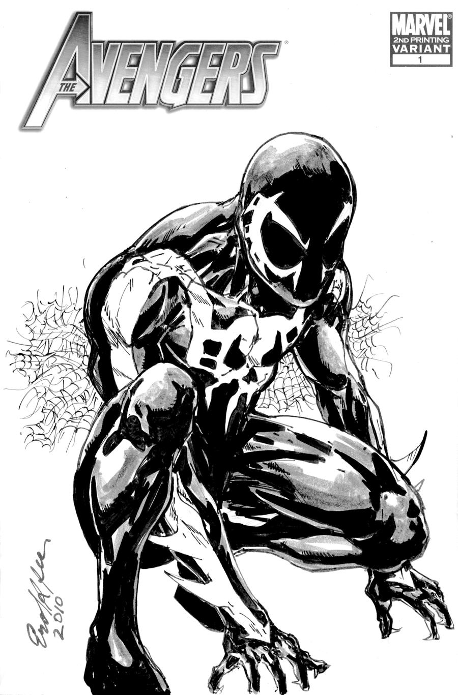 how to draw spiderman 2099 face