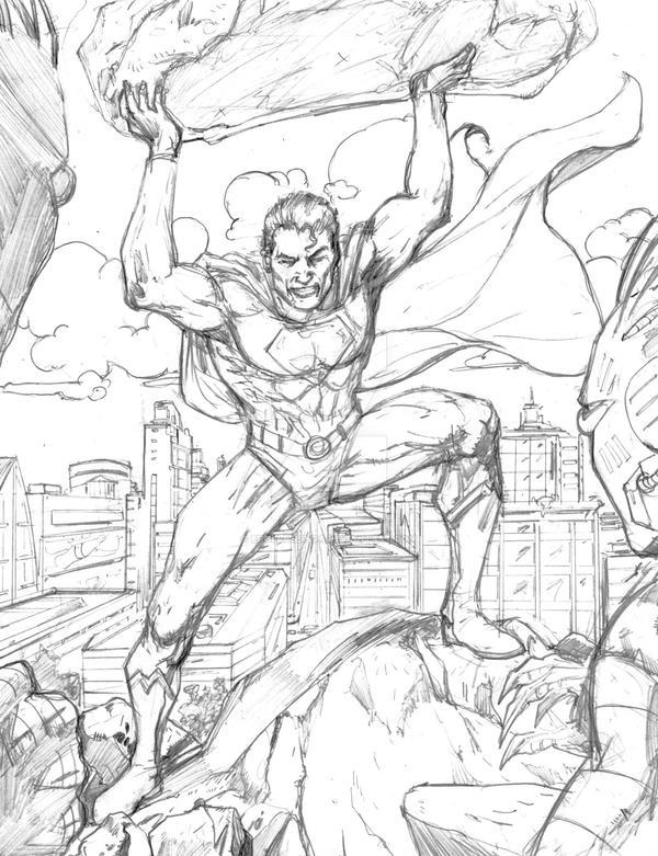 Superman pencil sketch...