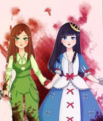 Apple girls ~ by IkariNyan