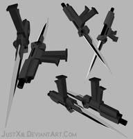 RWBY Weapon - Pistol/Bladed Tonfa