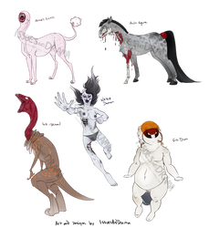 SPECIAL Halloween adoptable designs! OPEN by IssuesandDramaAdopts