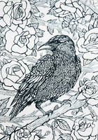 Raven and rose