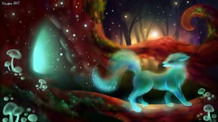Magic forest by KituneART