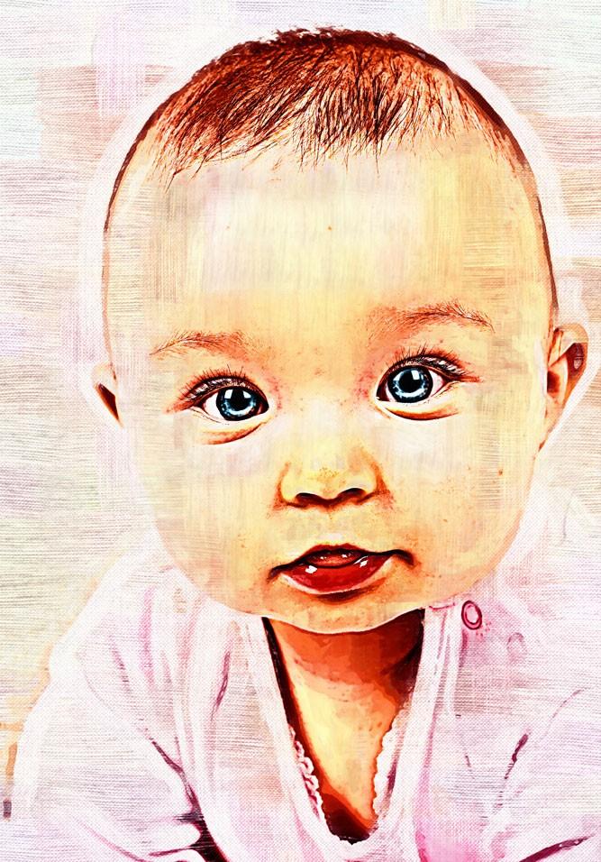 CUSTOM PORTRAIT - CHILD - by ArtByKostasTsipos