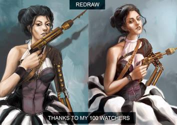 Steampunk Girl redraw