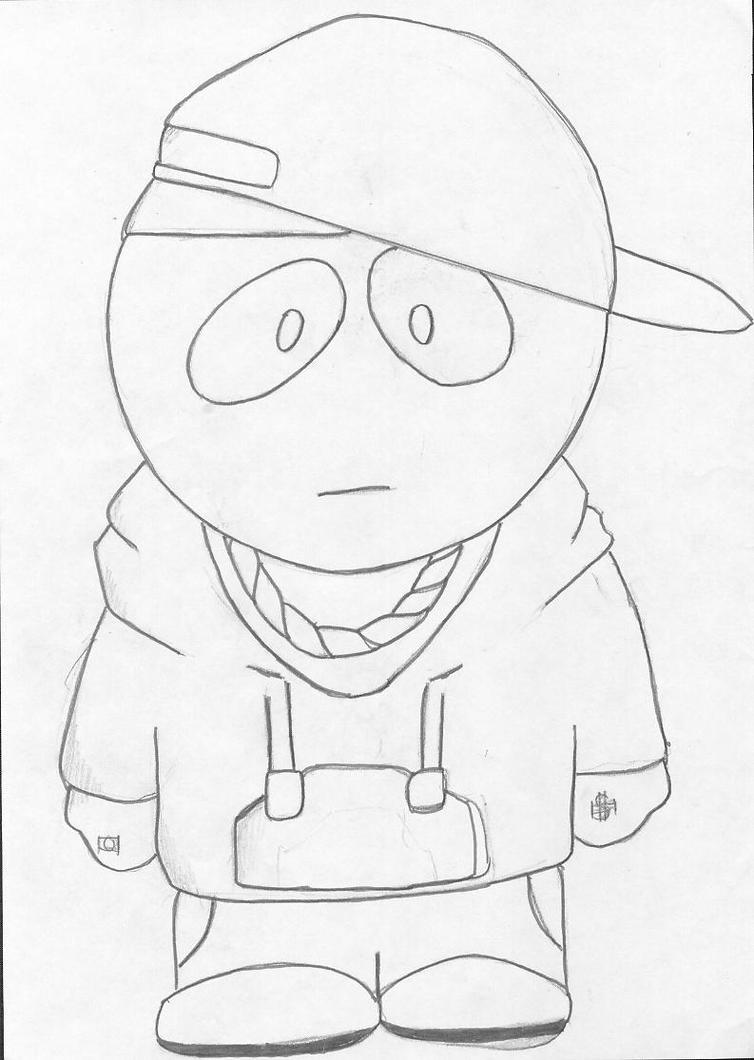 Kid Eminem South Park Style By Manga Strifer