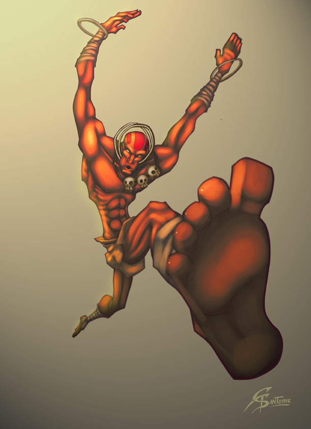 Dhalsim Street Fighter Tribute by GS-Dracko
