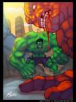 Hulk vs The Thing Fan Art