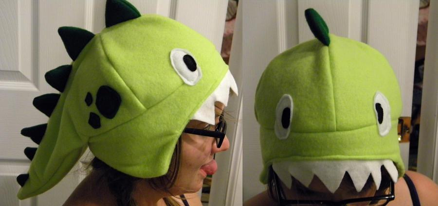 Dinosaur Fleece Hat by Negai-Boshi