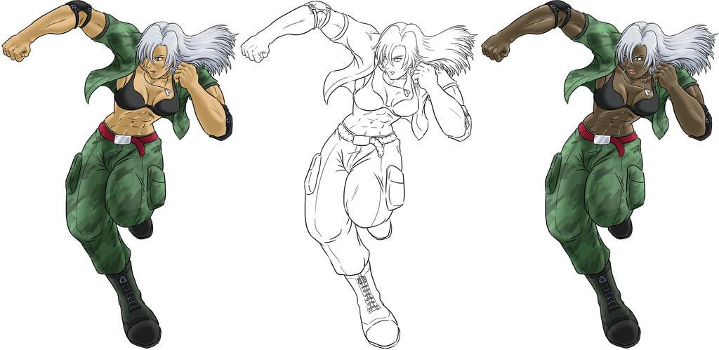 Virtua Fighter Vanessa by funkyninjamagic