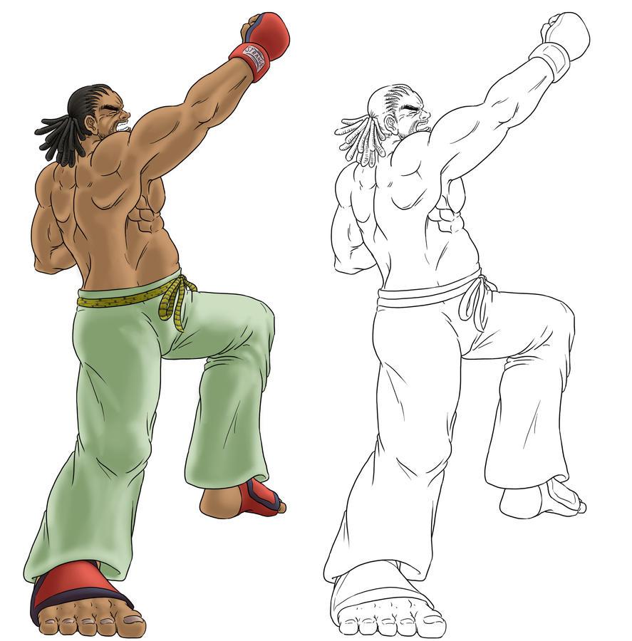Virtua Fighter Jeffrey by funkyninjamagic
