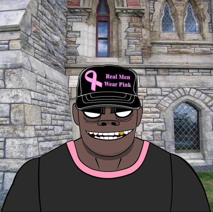 Real Men Wear Pink Russel By Dmarteng