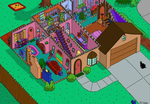 Simpson's House Cutaway First Floor