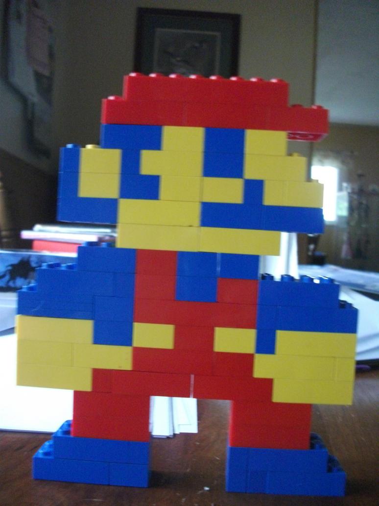 Lego Mario by XoxPikachuxoX