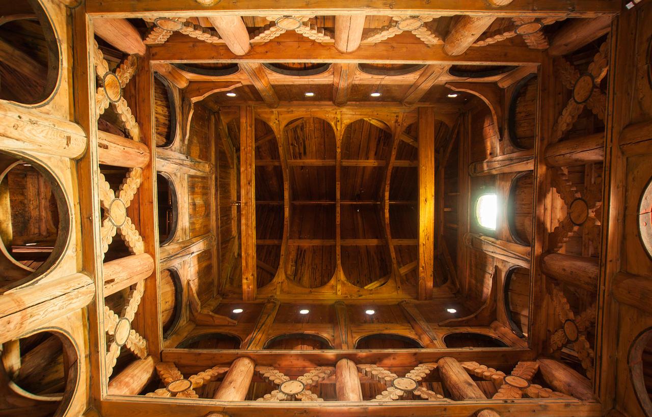 Inside Borgund Stave Church, Norway by skorp711