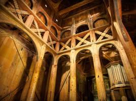 Inside Borgund Stave Church Angle2 by skorp711