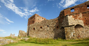 Hammershus Castle Bornholm View 2 by skorp711