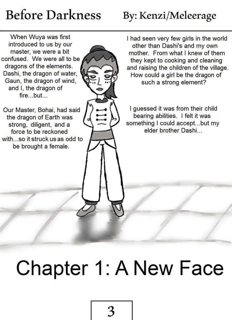Before Darkness pg 1. by melee12